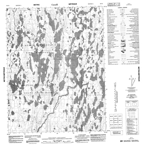 066P04 No Title Canadian topographic map, 1:50,000 scale