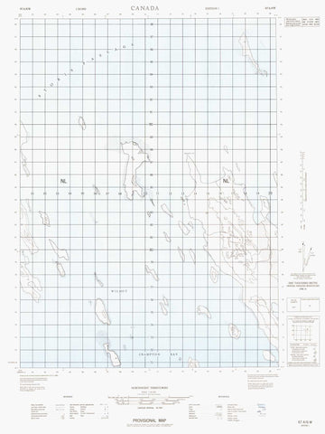 067A06W No Title Canadian topographic map, 1:50,000 scale