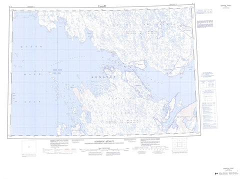 067A Simpson Strait Canadian topographic map, 1:250,000 scale