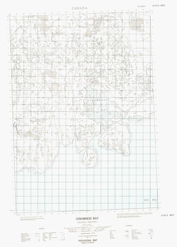 067B14W Stromness Bay Canadian topographic map, 1:50,000 scale