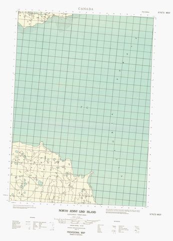 067B15W North Jenny Lind Island Canadian topographic map, 1:50,000 scale