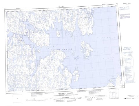 067C Admiralty Island Canadian topographic map, 1:250,000 scale