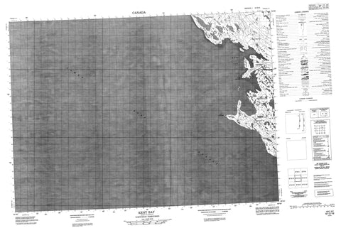 067D16 Kent Bay Canadian topographic map, 1:50,000 scale