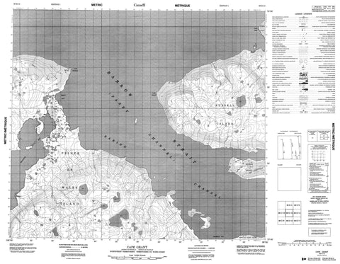 068D13 Cape Grant Canadian topographic map, 1:50,000 scale