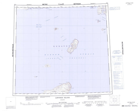 068E Lowther Island Canadian topographic map, 1:250,000 scale