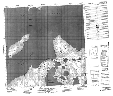 068H09 Little Cornwallis Island Canadian topographic map, 1:50,000 scale