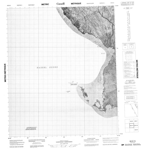 069D15 No Title Canadian topographic map, 1:50,000 scale