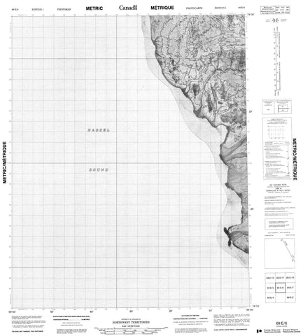 069E06 No Title Canadian topographic map, 1:50,000 scale