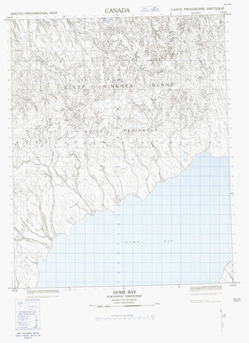 069F05 Dome Bay Canadian topographic map, 1:50,000 scale