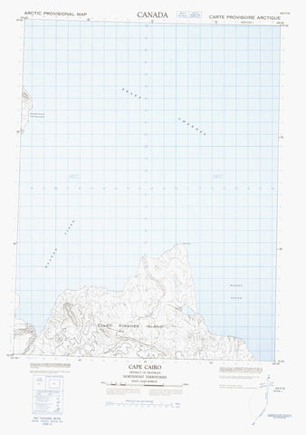 069F16 Cape Cairo Canadian topographic map, 1:50,000 scale