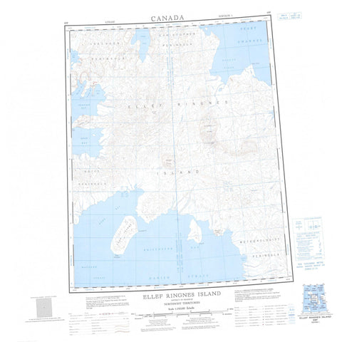 069F Ellef Ringnes Island Canadian topographic map, 1:250,000 scale