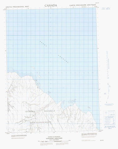 069G05 No Title Canadian topographic map, 1:50,000 scale