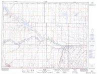 072E04 Coutts Canadian topographic map, 1:50,000 scale