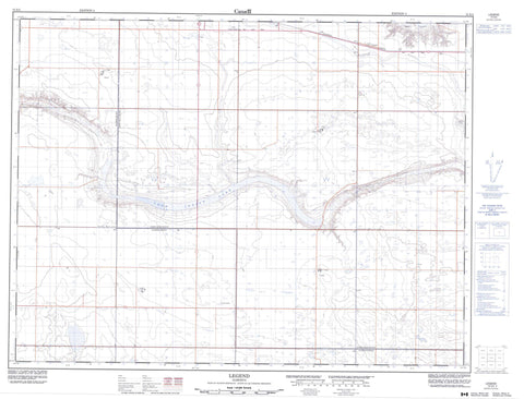 072E05 Legend Canadian topographic map, 1:50,000 scale