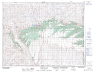 072E09 Elkwater Lake Canadian topographic map, 1:50,000 scale