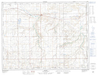 072E16 Irvine Canadian topographic map, 1:50,000 scale