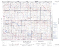 072H Willow Bunch Lake Canadian topographic map, 1:250,000 scale