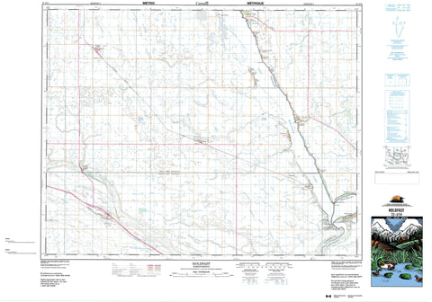 072I14 Holdfast Canadian topographic map, 1:50,000 scale