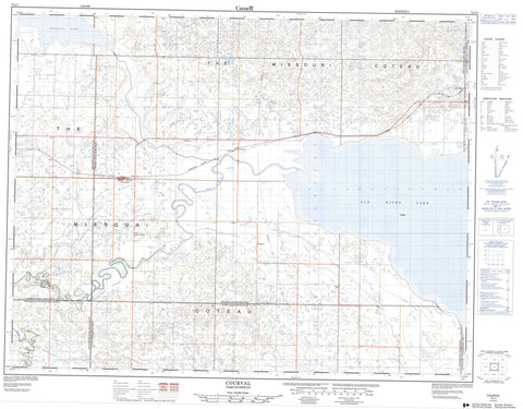 072J01 Courval Canadian topographic map, 1:50,000 scale
