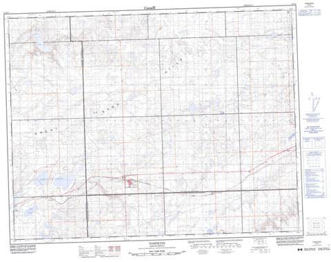 072K02 Tompkins Canadian topographic map, 1:50,000 scale