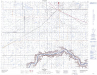 072L03 Suffield Canadian topographic map, 1:50,000 scale