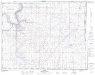 072L08 Hilda Canadian topographic map, 1:50,000 scale