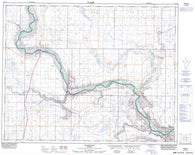 072L13 Wardlow Canadian topographic map, 1:50,000 scale