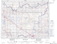 072L Medicine Hat Canadian topographic map, 1:250,000 scale