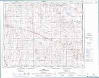 072M Oyen Canadian topographic map, 1:250,000 scale