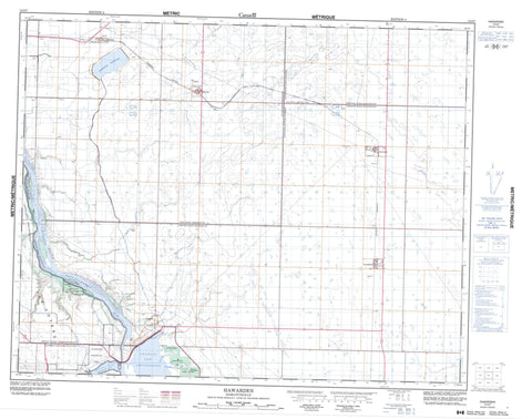 072O07 Hawarden Canadian topographic map, 1:50,000 scale