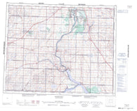 072O Rosetown Canadian topographic map, 1:250,000 scale