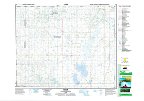 073A06 Fulda Canadian topographic map, 1:50,000 scale