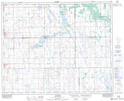 073A08 Naicam Canadian topographic map, 1:50,000 scale from Saskatchewan Map Store