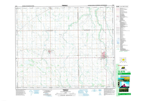 073A16 Tisdale Canadian topographic map, 1:50,000 scale
