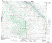 073B05 Sonningdale Canadian topographic map, 1:50,000 scale from Saskatchewan Map Store