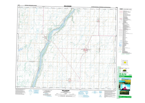 073B10 Waldheim Canadian topographic map, 1:50,000 scale