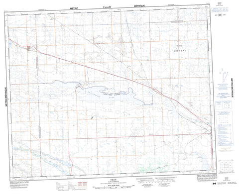073C01 Oban Canadian topographic map, 1:50,000 scale