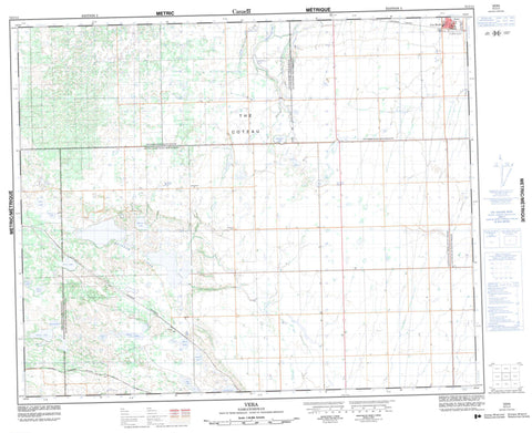 073C11 Vera Canadian topographic map, 1:50,000 scale