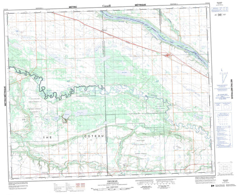 073C15 Delmas Canadian topographic map, 1:50,000 scale