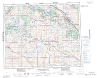 073C North Battleford Canadian topographic map, 1:250,000 scale