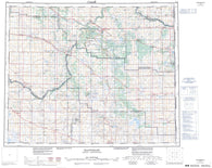 073D Wainwright Canadian topographic map, 1:250,000 scale