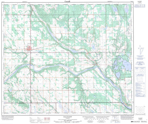 073E15 Elk Point Canadian topographic map, 1:50,000 scale