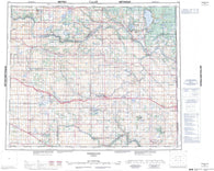 073E Vermilion Canadian topographic map, 1:250,000 scale