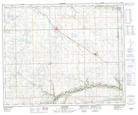073F04 Lashburn Canadian topographic map, 1:50,000 scale