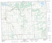 073F07 Turtleford Canadian topographic map, 1:50,000 scale from Saskatchewan Map Store