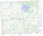 073F08 Medstead Canadian topographic map, 1:50,000 scale from Saskatchewan Map Store