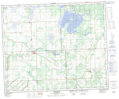 073F08 Medstead Canadian topographic map, 1:50,000 scale