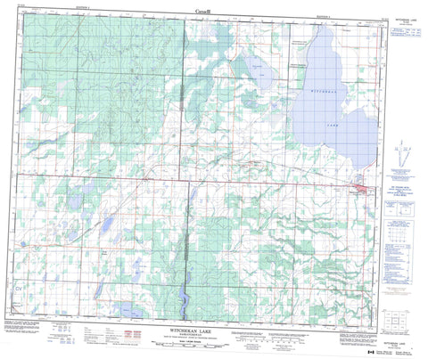 073G05 Witchekan Lake Canadian topographic map, 1:50,000 scale