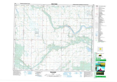 073G08 Wild Rose Canadian topographic map, 1:50,000 scale