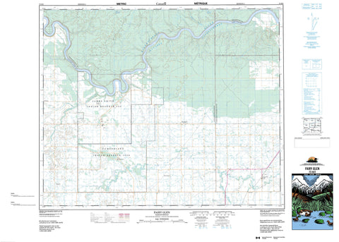 073H02 Fairy Glen Canadian topographic map, 1:50,000 scale